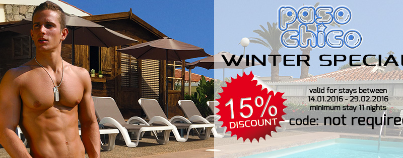 GranCanariaGayStay Winter offer in Gay Bungalows Paso Chico