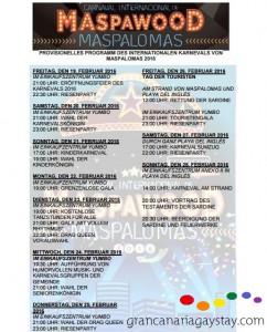 Programm des Internationalen Karnevals von Maspalomas 2016-GranCanariaGayStay