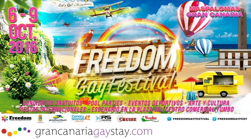 Freedom Gay Festival 2016- GranCanariaGayStay
