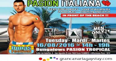 "Dunas Festival 2016 – ""PASION ITALIANA"" en Pool Party en Resort Pasión Tropical"