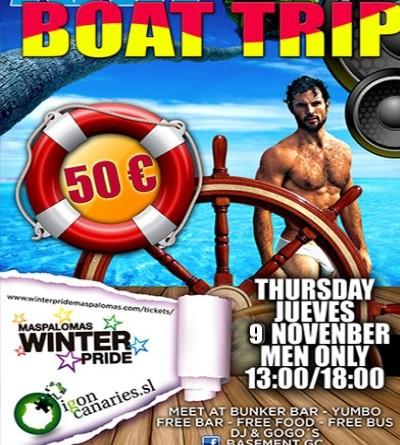 Winter Pride Maspalomas 2017- XXX Boat Trip- GranCanariaGayStay.com