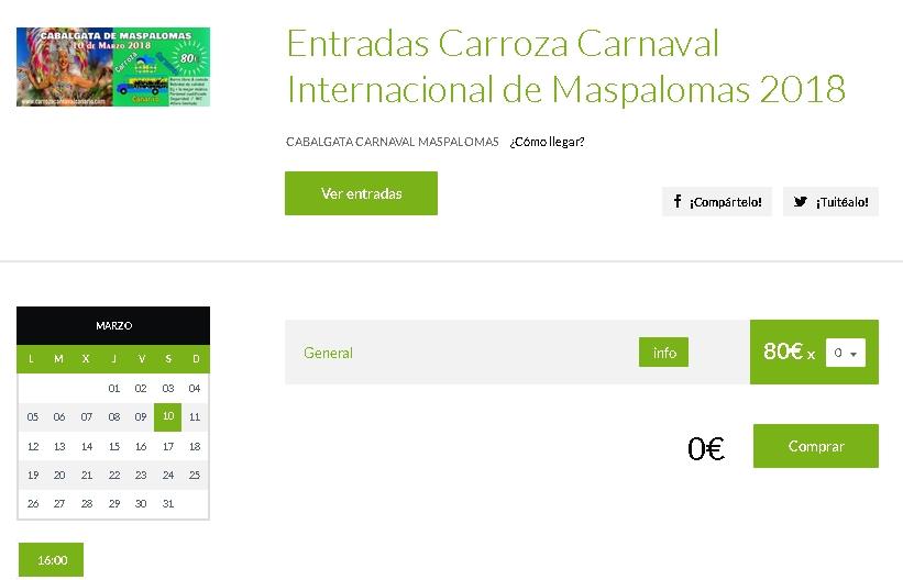 CarnavalInternacionalMaspalomas 2018-GranCanariaGayStay-tickets
