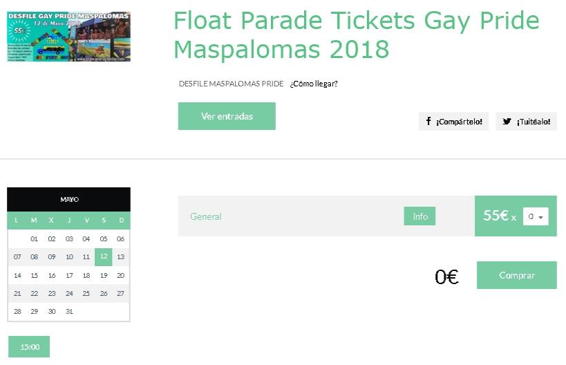 Float Parade Maspalomas Gay Pride 2018-GranCanariaGayStay-tickets-en