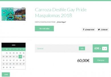 Entradas Carroza Maspalomas Gay Pride 2018-GranCanariaGayStay-es