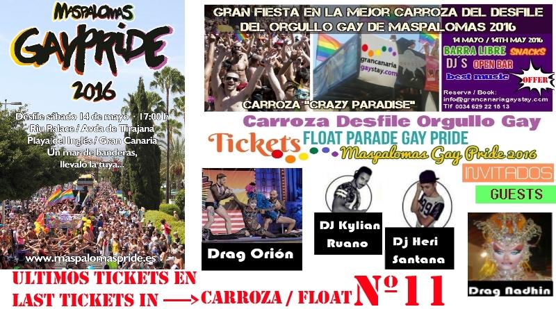 Gay Pride Parade Maspalomas 2016-GranCanariaGayStay