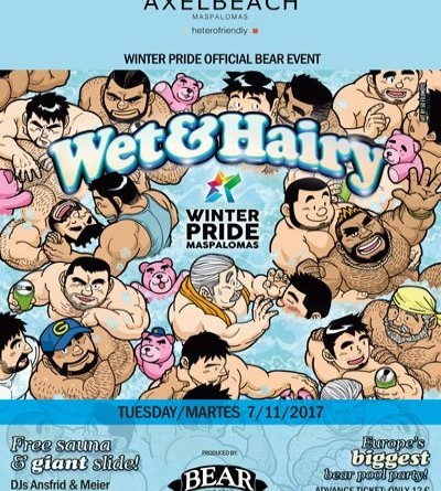 Winter Pride Maspalomas 2017- Wet & Hairy Bear- GranCanariaGayStay.com