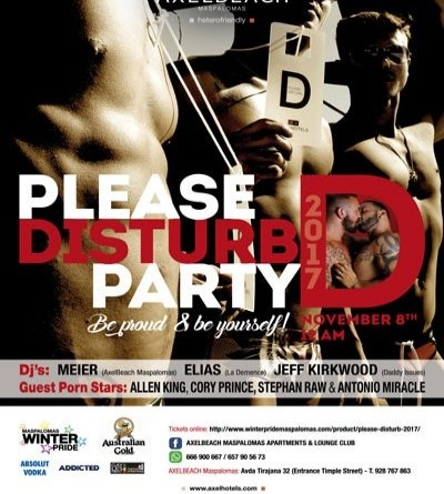 Winter Pride Maspalomas 2017- Please Disturb- GranCanariaGayStay.com