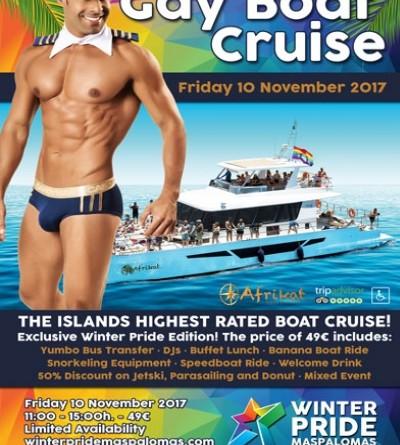 Winter Pride Maspalomas 2017- Gay Boat Cruise- GranCanariaGayStay.com